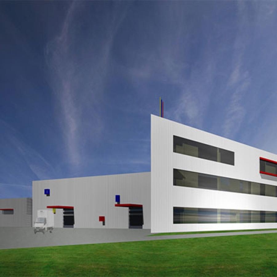 Budynek laboratoryjno-produkcyjny ELMAT
